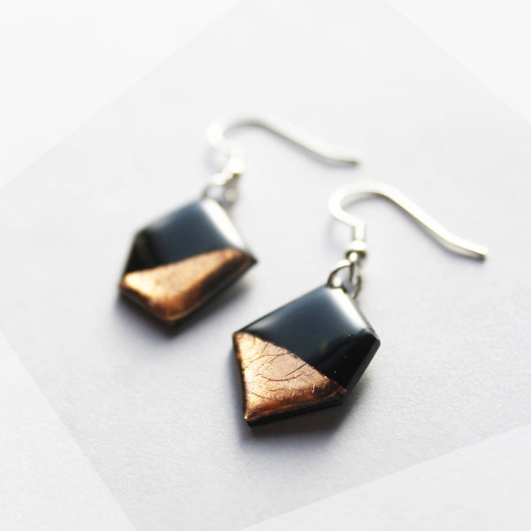 vinyl record dangle earrings