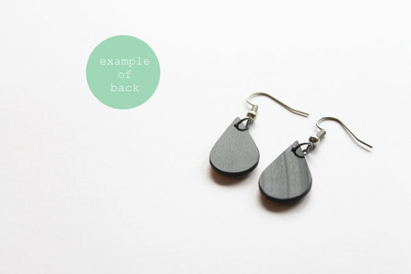 vinyl record earrings