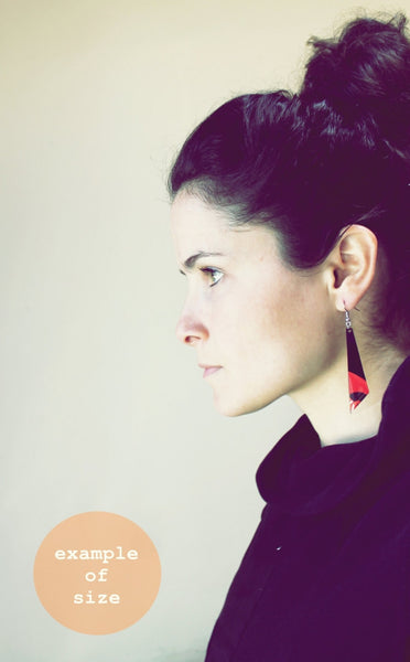40% OFF / colorful eco-friendly earrings / orange