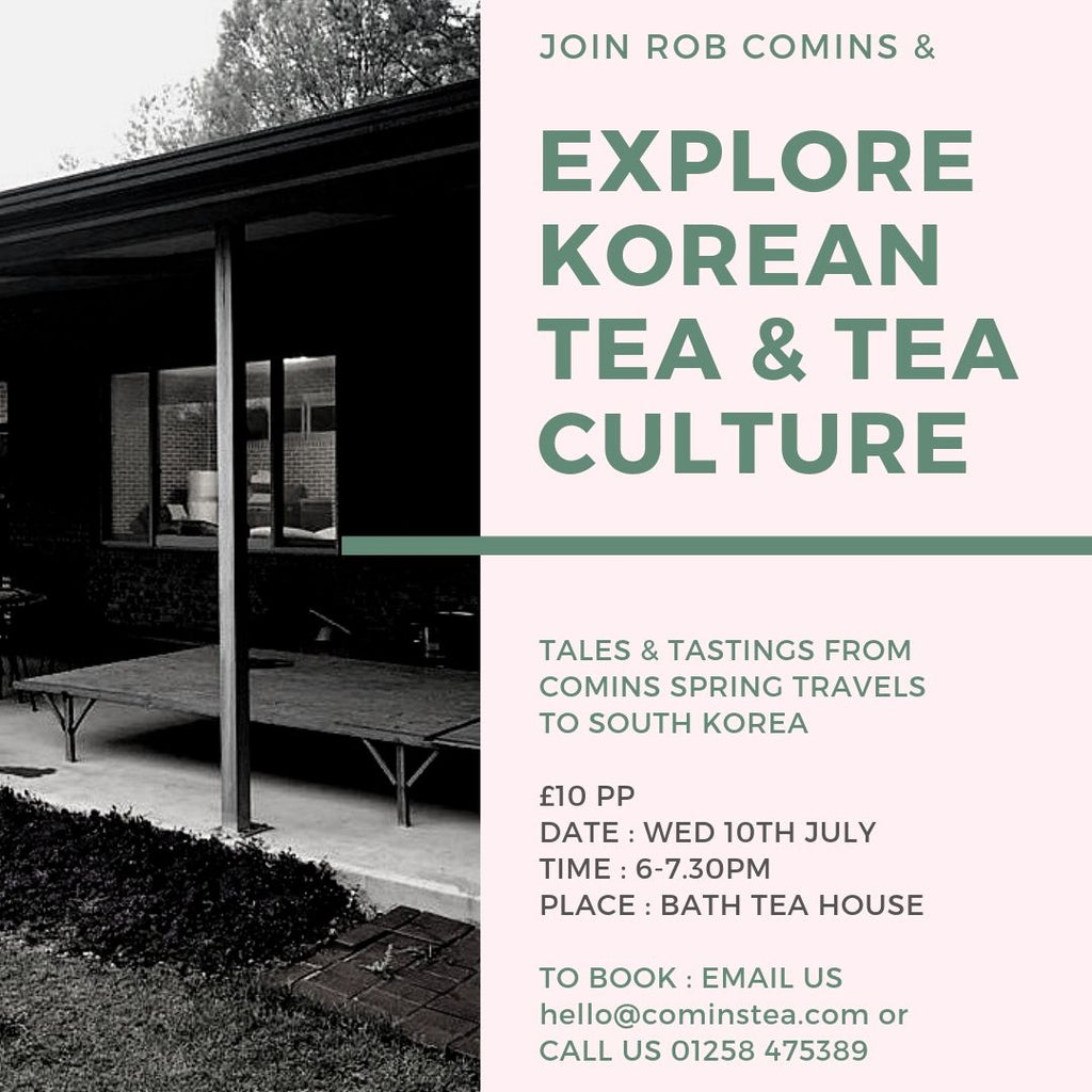 Explore Korean Tea & Tea Culture with Rob Comins
