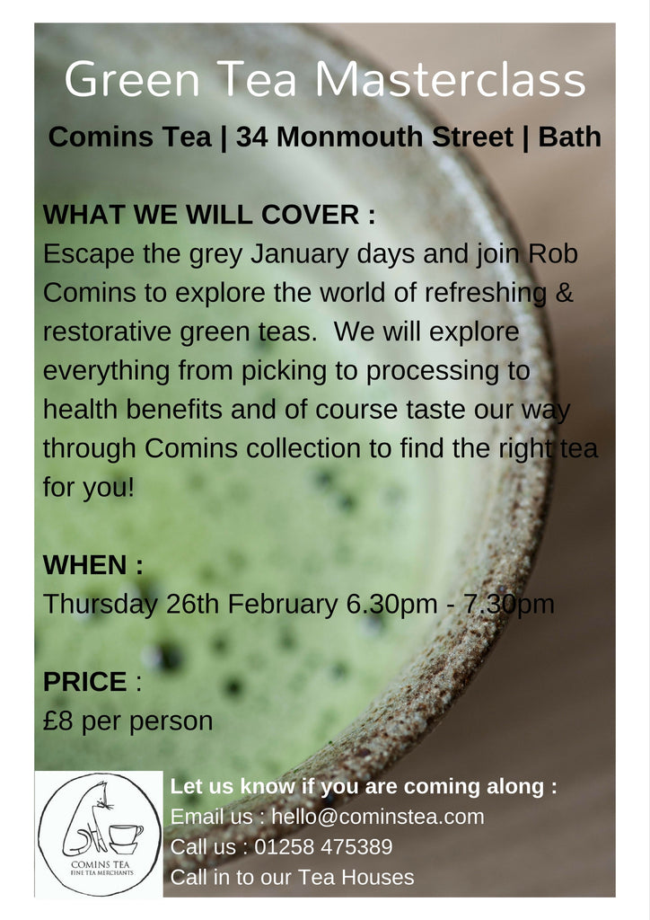 Green Tea Masterclass | Bath Tea House | 26th January | 6.30-7.30pm