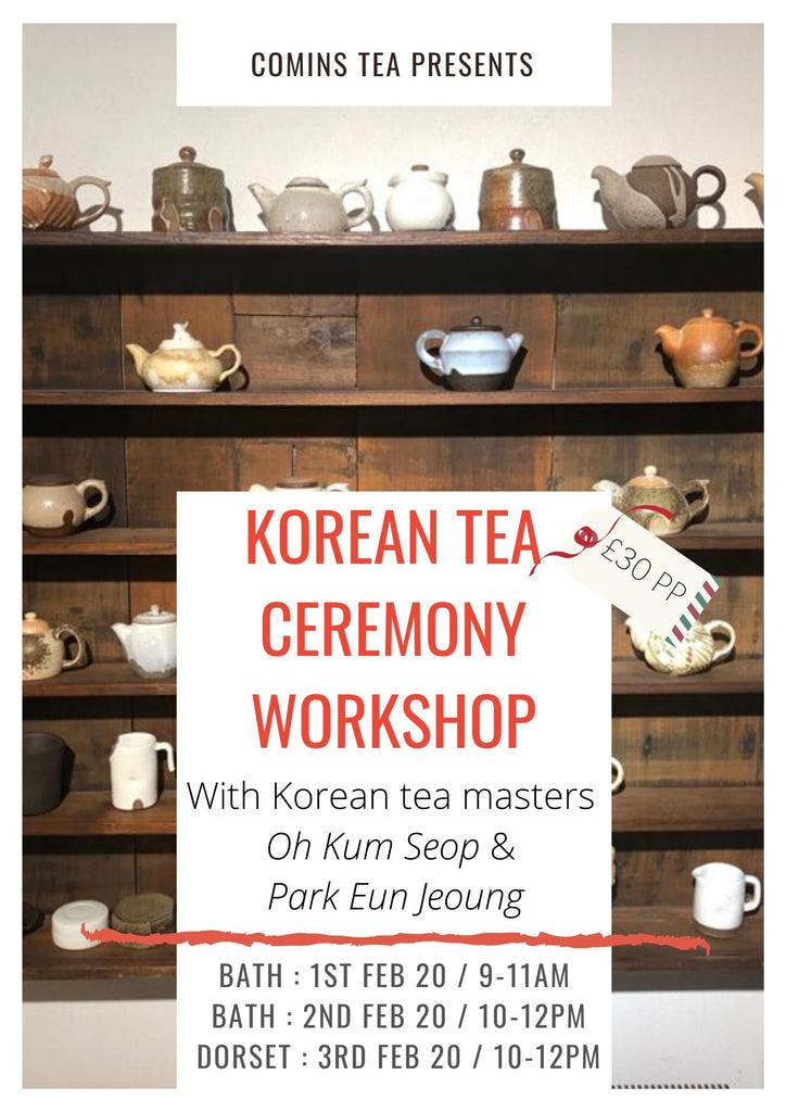Amazing South Korean events at Comins Tea