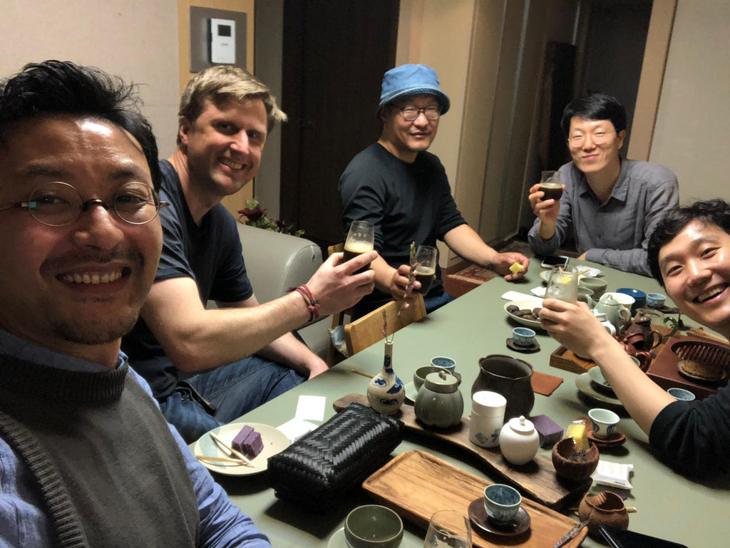 South Korea : 2019 : Day 1 : Korean Ceramics, Korean nokcha, black beer & Kyung ju bopju