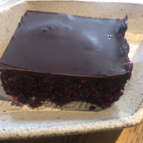 EAT IN : TAKEAWAY SLICE : Comins Raw Beetroot Coconut Slice [To eat in store]