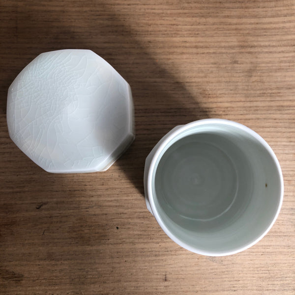 White Porcelain Caddy [Hye-Jin Lee : Boseong, South Korea ]