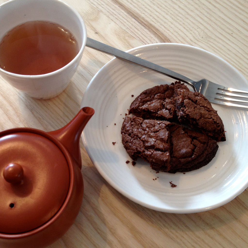 EAT IN : INDIVIDUAL DARK chocolate Houjicha Cookie [To eat in store]