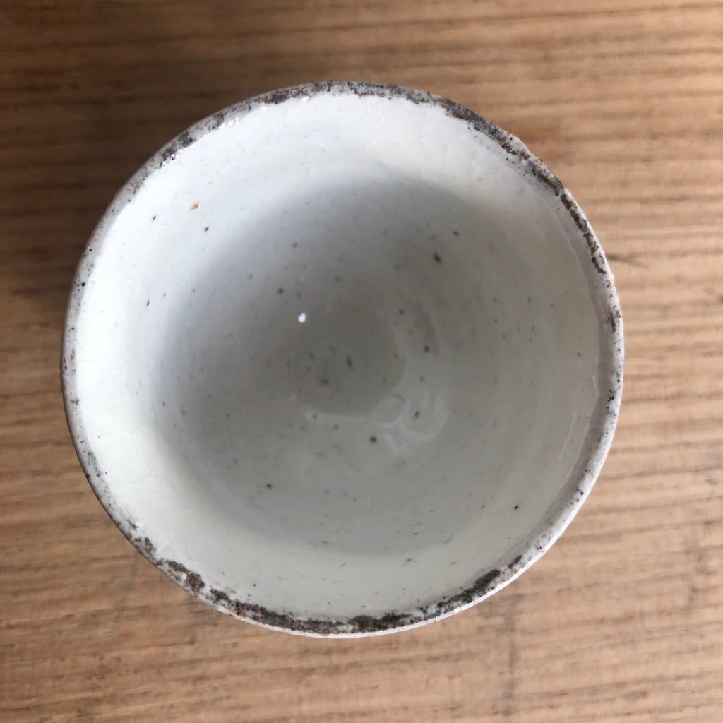 White nuka glaze sipping cup [Seong Il Hong : Boseong, South Korea ] : 50ml