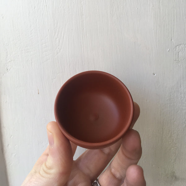 Yixing Pottery Sipping Cup [Light brown]