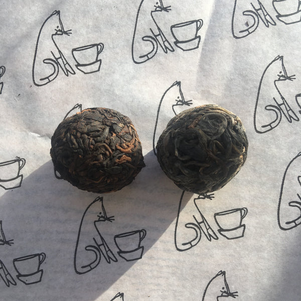 2015 Shu Puer 8g Ball [pressed 2017] : A Bai La co-operative Jingmai mountain