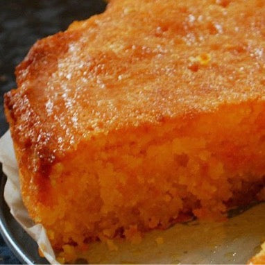 EAT IN : TAKEAWAY SLICE :  Comins Lemon Coconut Polenta Cake [To eat in store]