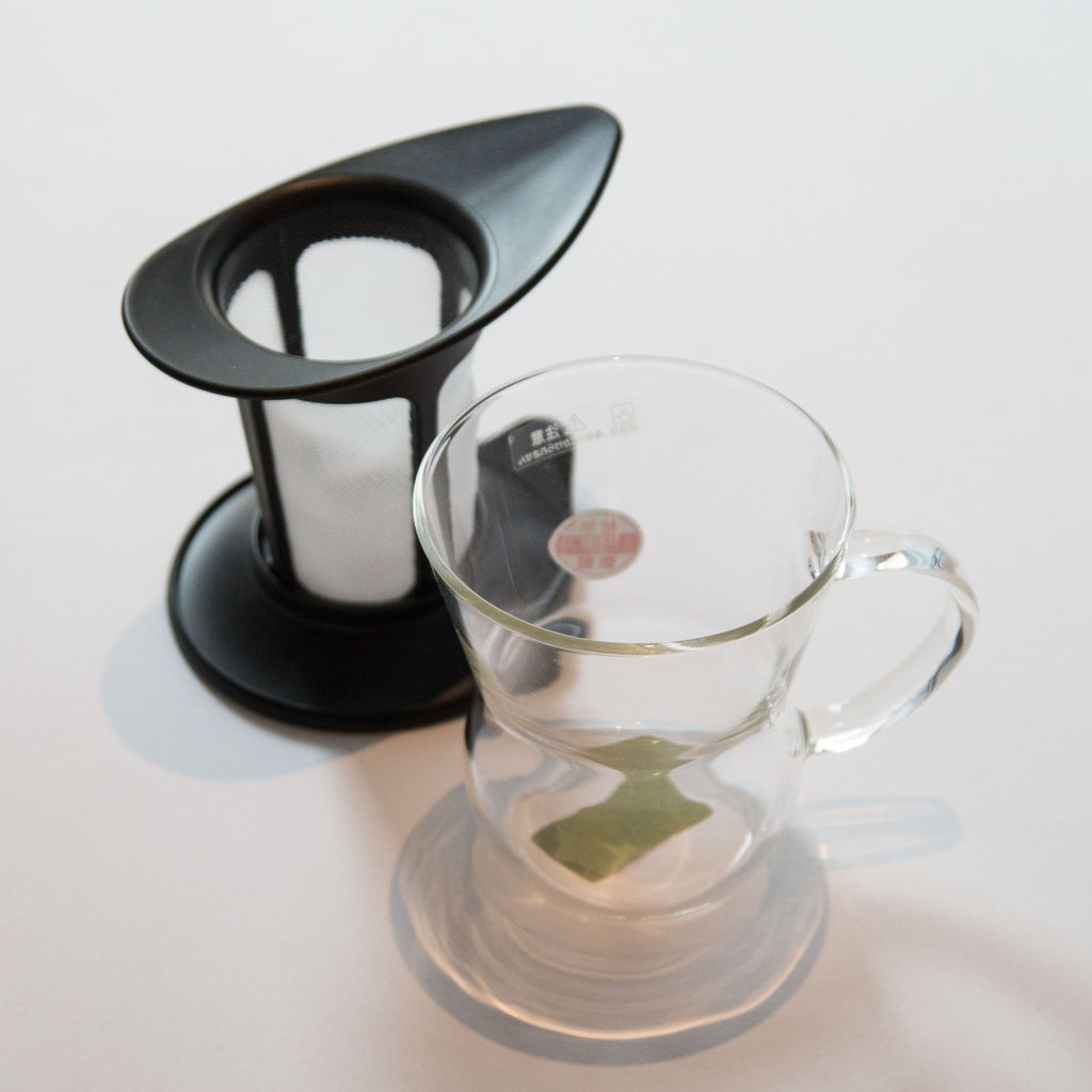 HARIO glass cup & infuser