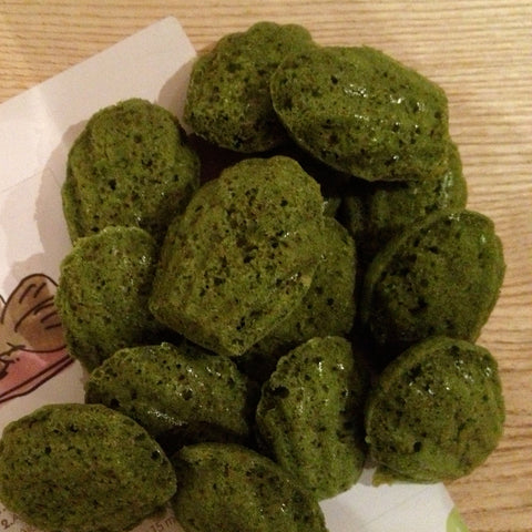 Pack of 10 Mini Matcha Madeleines [To collect in store]