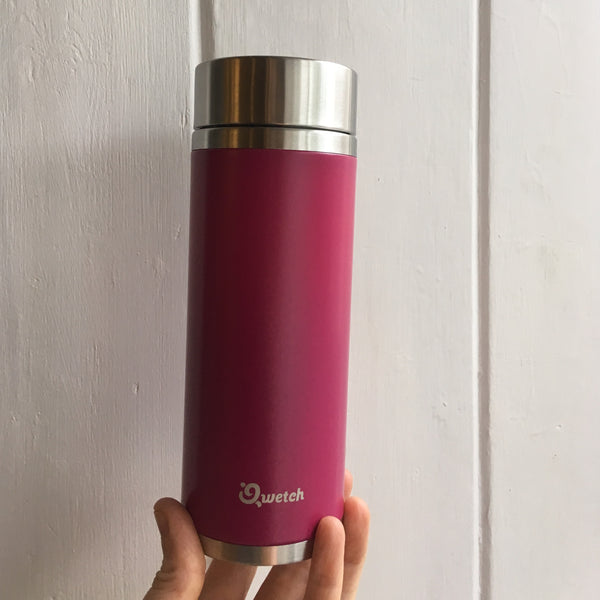 Dark Pink tea travel Mug [30cl stainless steel]