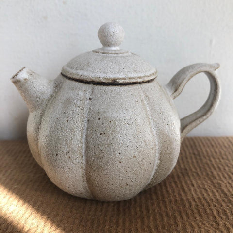 White Pumpkin Teapot [Seong Il Hong : Boseong, South Korea ] : 145ml