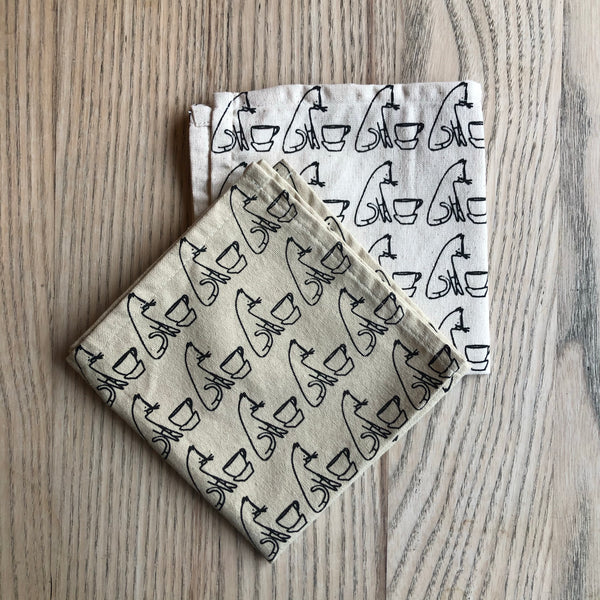 Comins Cat Tea Napkin : Natural Organic Cotton