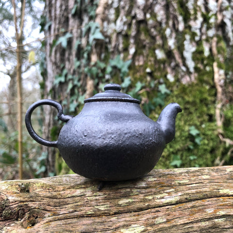 100ml black teapot : Black glaze with Iron Clay Body [Seong Il Hong : Boseong, South Korea ]