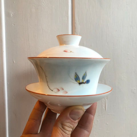 Chinese Butterfly Gaiwan Bowl
