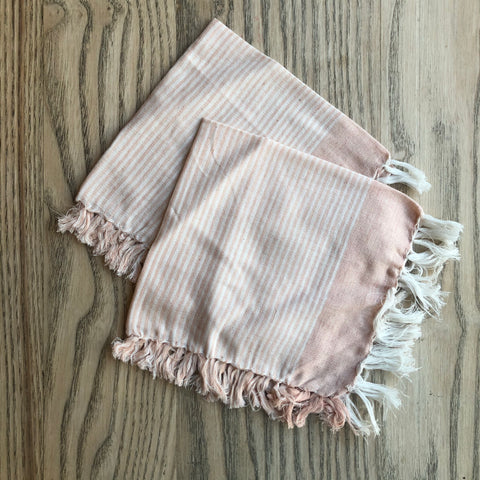 Niraamaya Pink stripe face cloth