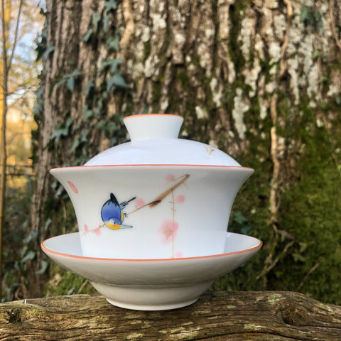 Chinese Blue Bird Gaiwan 290ml