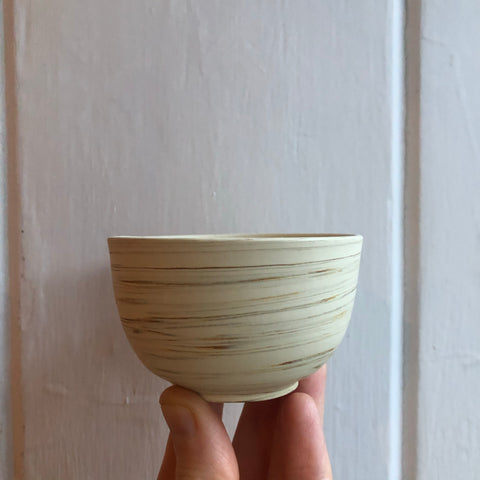 Smooth White Tokoname Teacup [H 5cm W 7cm]