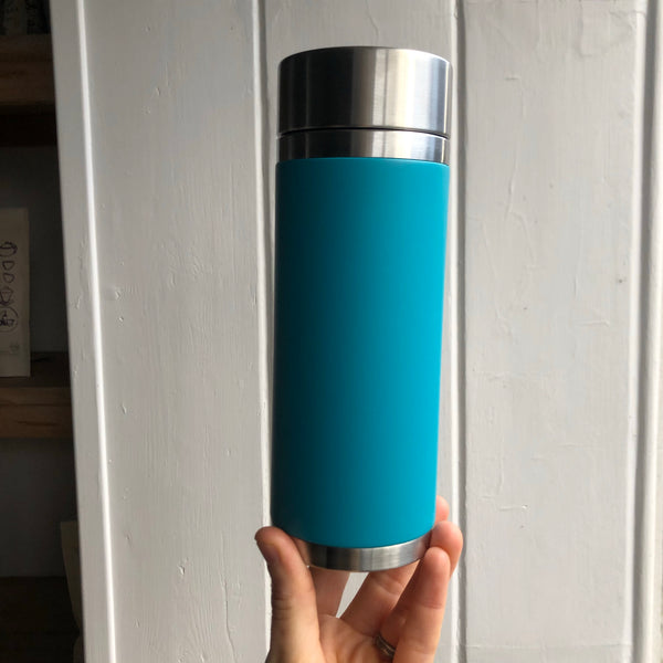 Teal tea travel Flask [30cl stainless steel]