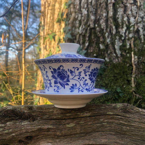 Blue Floral Pattern Gaiwan 300ml