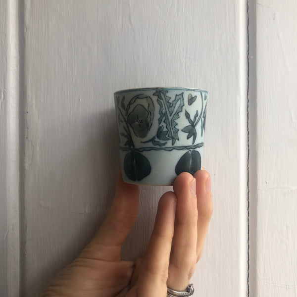 Ancient LIGHT Blue & White Cup tea cup | Yangyang Li, YUNBAI STUDIO, Jingdezhen