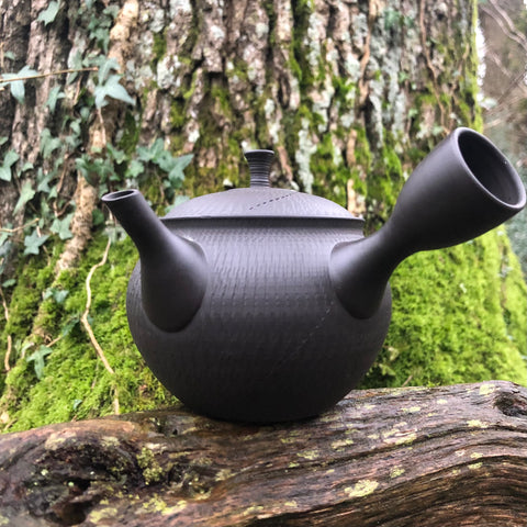 Tokoname Black Pattern Kyusu Teapot 360ml (ceramic strainer)