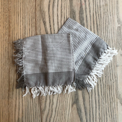 Niraamaya Grey stripe face cloth