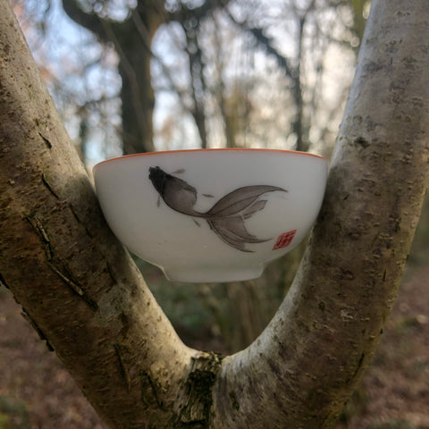 Grey Fish Sipping Cup