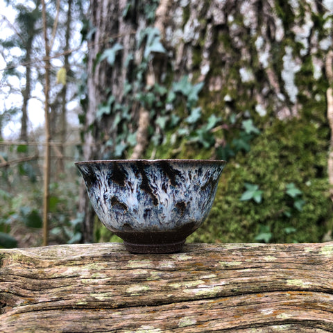 35ml nuka teacup : iron clay body with nuka glaze  [Seong Il Hong : Boseong, South Korea ]
