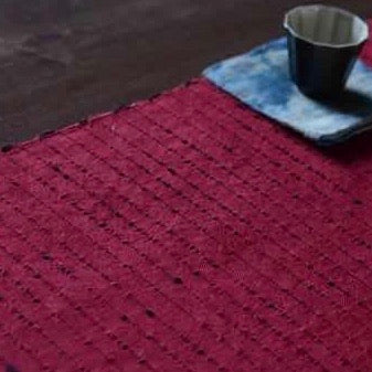 Rich Red XiaBu Ramie Cloth 30cm x 180cm