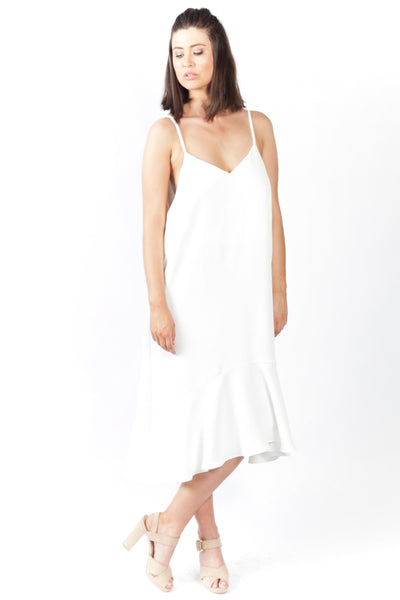White Slip On Dress