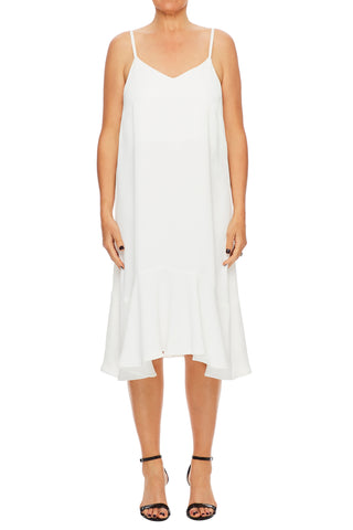 Audrina Slip-on Dress with frill