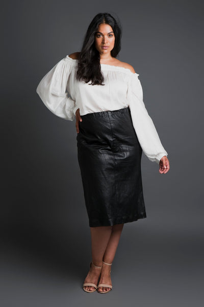 Leather Skirt Plus size