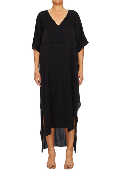 Chantel Silk Dress - black