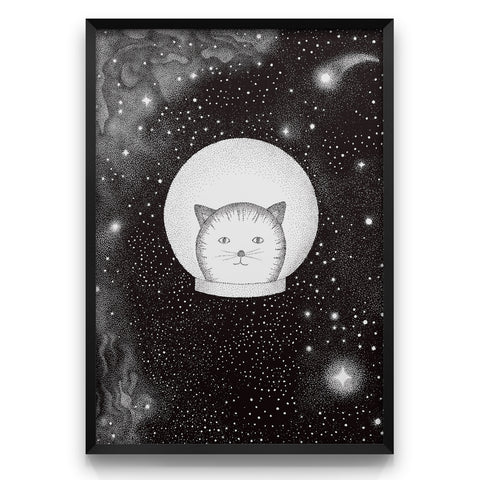 Orion the Catmonaut - Art print - A4