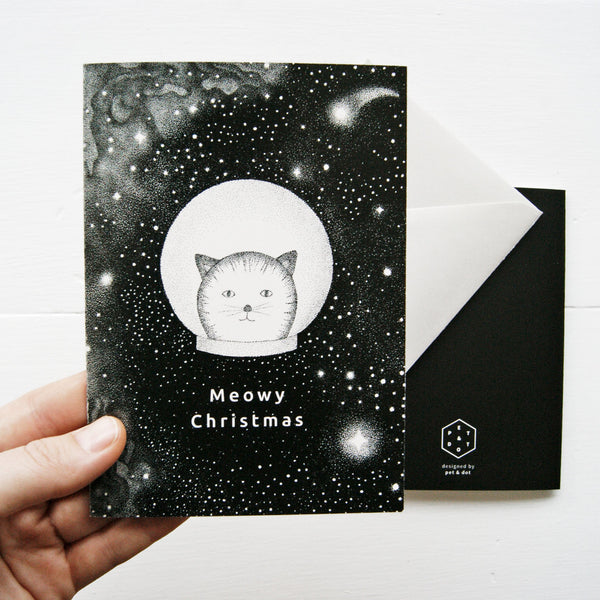 Greeting Card - Catmonaut