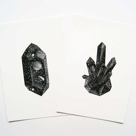 Twin Crystal Prints - A set of 2 mini prints