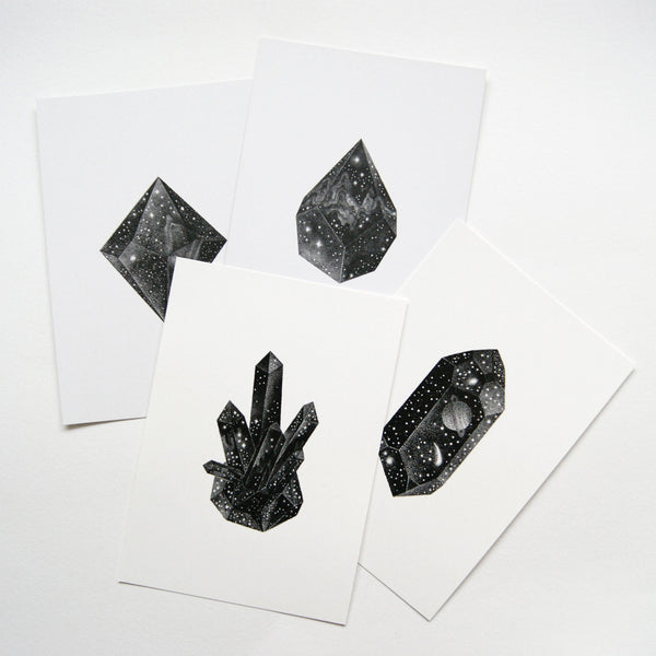 Crystal Prints 4 Friends - A set of 4 mini prints