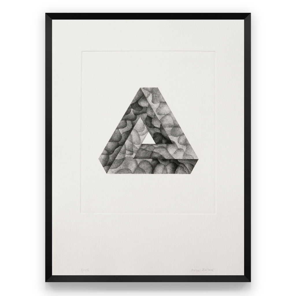 Photogravure print - Infinite Triangle