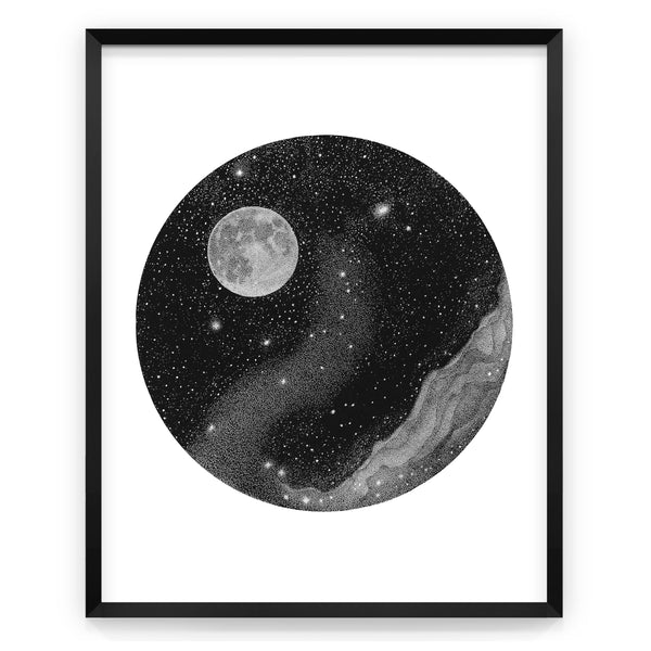 Hello, Moon! - Art print