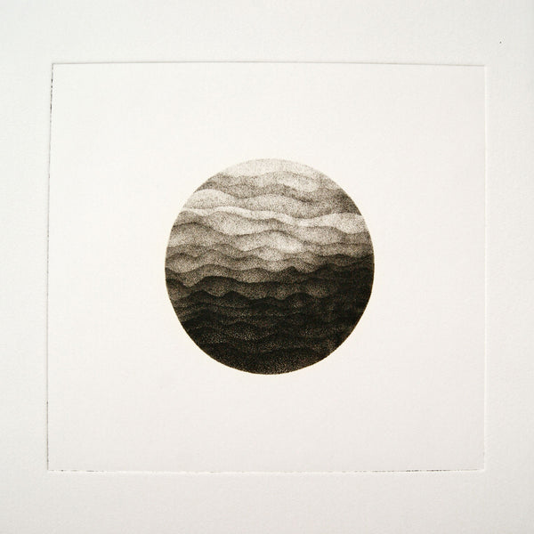 Photogravure print - Waves pf Mountains