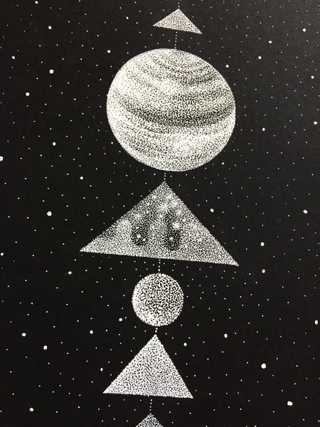 Planets & Shapes - Original drawing