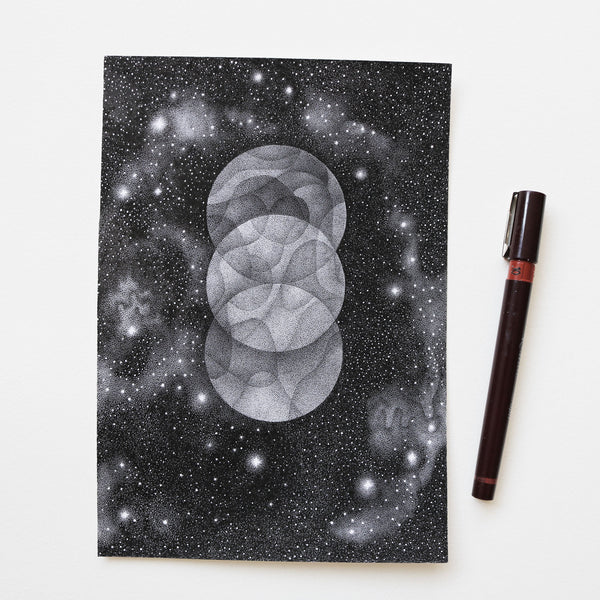 Three Moons - Original drawing