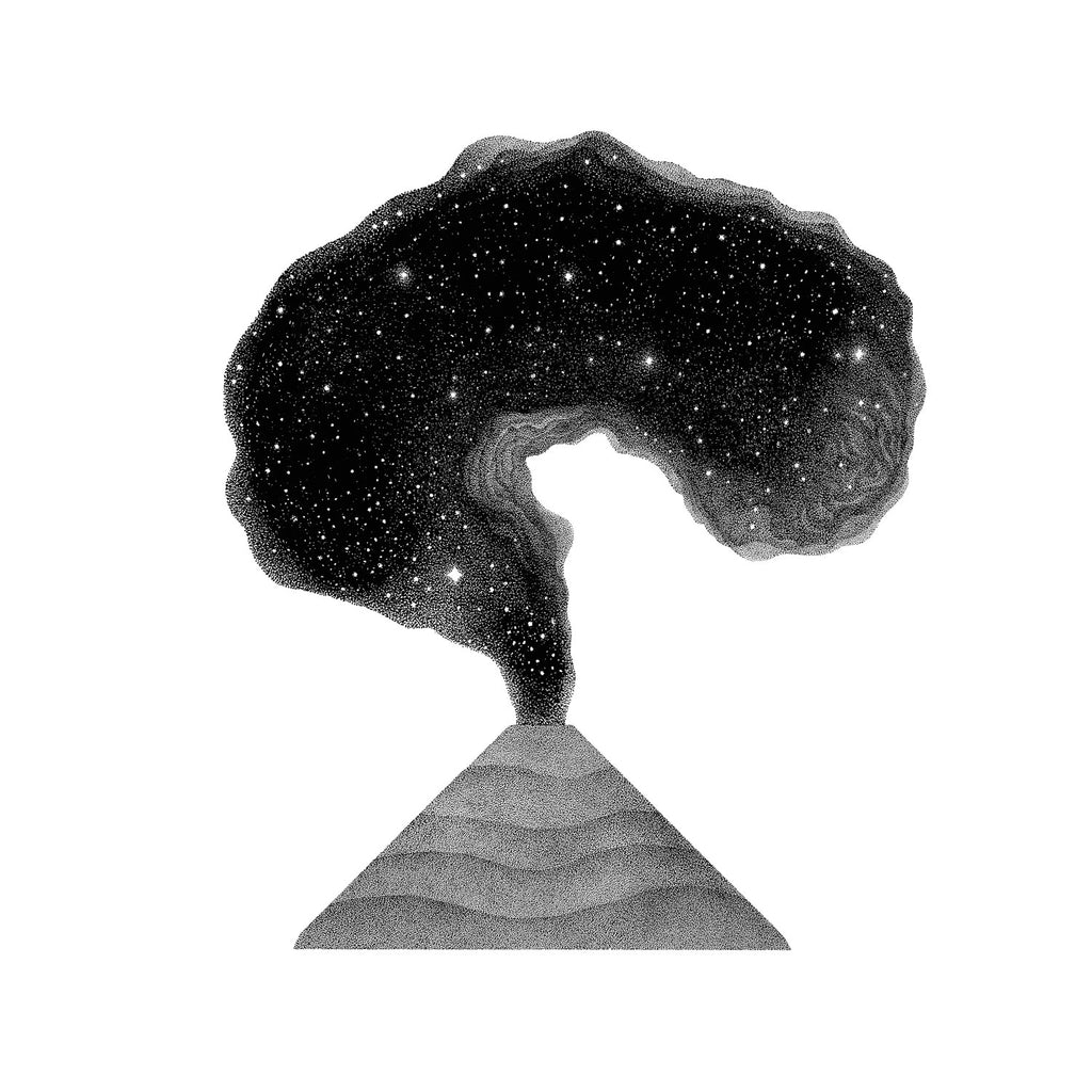 Galactic Volcano - Original drawing