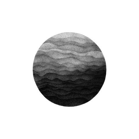 Waves of Mountains - Original drawing