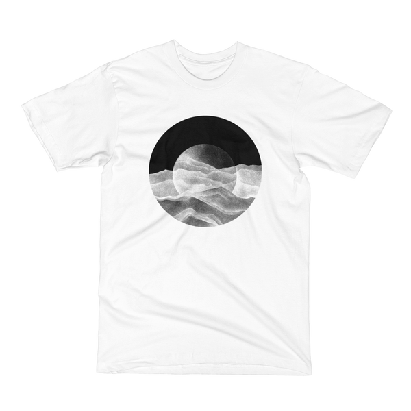 Unisex Short Sleeve T-Shirt - Moon over the Mountains