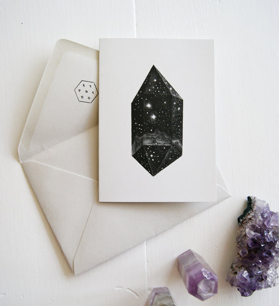 Greeting Card - Galactic Crystal