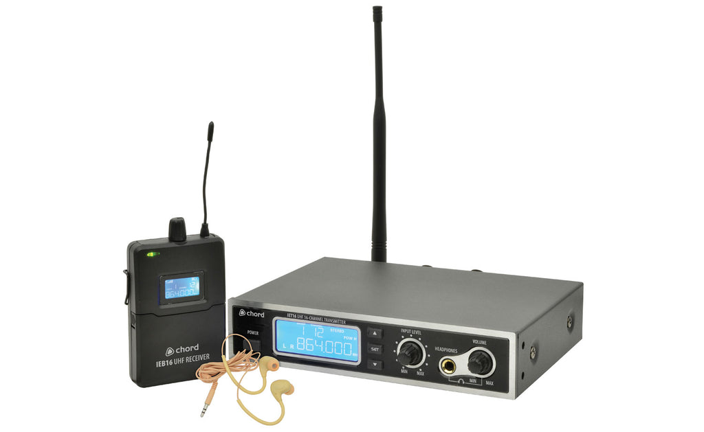 Chord 16-Channel UHF In-Ear Monitoring System
